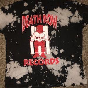 Other - Death row records tie dye bleach shirt 2XL